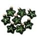 Green Glass Stars - 8 x 40mm