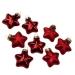 Red Glass Stars - 8 x 40mm