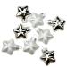 Silver Glass Stars - 8 x 40mm