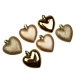 Gold Shatterproof Hearts Mixed Finish - 6 X 70mm