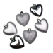Silver Shatterproof Hearts Mixed Finish - 6 X 70mm