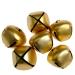 Gold Matt Christmas Jingle Sleigh Bells - 12 x 5cm