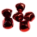 Red Shiny Christmas Jingle Sleigh Bells - 12 x 5cm