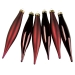 Dark Red Glass Icicle Hangers - 6 x 15cm