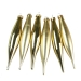 Light Gold Glass Icicle Hangers - 6 x 15cm