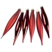 Christmas Red Glass Icicle Hangers - 6 x 15cm