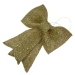 Light Gold Glitzy Bow Decoration - 22cm X 30cm
