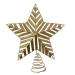 Gold 3D Glitter Metal Tree Top Star - 22cm