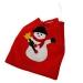 Snowman Gift Sack - 26cm x 23cm