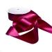 Bordeaux Red Double Face Satin Ribbon - 25m x 38mm