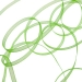 Apple Green Organza Woven Edge Ribbon - 3mm X 50m
