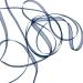 Navy Blue Organza Woven Edge Ribbon - 3mm X 50m