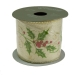 Holly Christmas Ribbon - 6cm x 2.7m