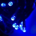 12m Length Of 120 Blue Multi Action Outdoor Premier Supabrights LED Fairy Lights Green Cable