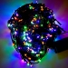 12m Length Of 120 Multi Coloured Multi Action Outdoor Premier Supabrights LED Fairy Lights Green Cable
