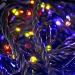 Konstsmide 12m Length Of 180 Multi Coloured Multi Function Outdoor Micro LED Fairy Lights. Black Cable.
