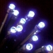 Noma 6.32m length of 80 Blue Indoor And Outdoor Multi Function Super Vibrant LED Fairy Lights. Black Cable