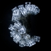 1.9m Length of 20 White Battery Operated LED Cube Lights Transparent Cable