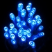3.4m Length Of 35 Indoor Battery Operated Multiaction Blue LED Fairy Lights Transparent Cable