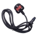 MK 1.5m Black Quick Fix Mains Cable And Plug