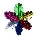 Foil 60cm Starflake - Multicoloured