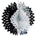 Foil 30cm Ball - Silver, Black & White