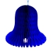 Blue Flame Resistant Honeycomb Paper Bell - 30cm