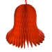 Red Flame Resistant Honeycomb Paper Bell - 30cm
