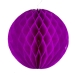 Cerise Pink Flame Resistant Honeycomb Paper Ball Hanging Decoration - 20cm
