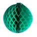 Green Flame Resistant Honeycomb Paper Ball Hanging Decoration - 40cm