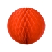 Red Flame Resistant Honeycomb Paper Ball Hanging Decoration - 20cm