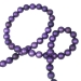 Purple Matt Bead Chain Garland - 180cm