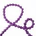 Purple Shiny Bead Chain Garland - 180cm