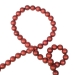 Red Matt Bead Chain Garland - 180cm