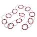 Red & White Iridescent Glitter Chain Link Garland - 8cm X 1.5m