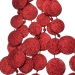 Red Glitter Disc Garland - 180cm