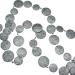 Silver Glitter Disc Garland - 180cm