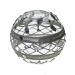Round Candle Holder With Lattice & Sequin Detailing