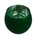 Rounded Green Frosted Flecked Glass Tealight Candle Holder - 7cm