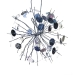 Firework Hanging Decoration With Silver Sequin Detail - 18cm
