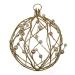 Gold Glitter & Bead Wire Ball - 100mm