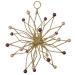 Gold Glitter & Bead Flower Burst Decoration - 100mm