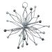 Silver Glitter & Bead Flower Burst Decoration - 100mm