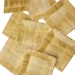 Gold Disposable Square Dessert Plates - Pack Of 8