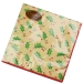 Christmas Lunch Napkins - Gold Holly Berry