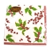Christmas Lunch Napkins - Holly & Berries