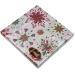 Christmas Lunch Napkins - Silver Jewel Snowflake