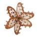 Brown, Orange & Gold Sheer Flower Clip - 20cm