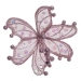 Pink Sheer Flower Clip - 20cm
