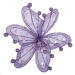 Lilac Sheer Flower Clip - 20cm